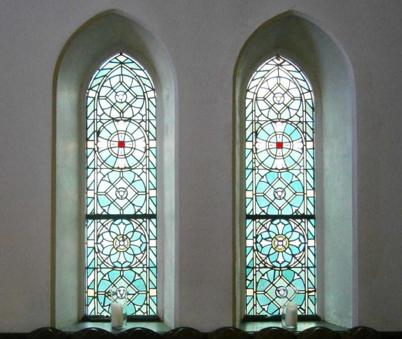 Original stained glass windows